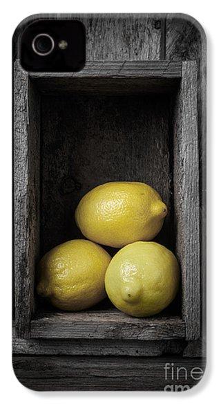 Lemons Still Life IPhone 4 Case by Edward Fielding