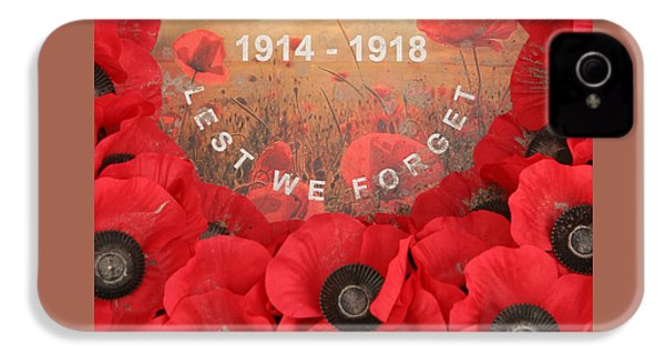 Lest We Forget - 1914-1918 IPhone 4 Case