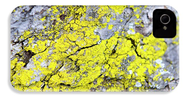IPhone 4 Case featuring the photograph Lichen Pattern by Christina Rollo