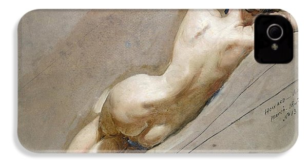 Life Study Of The Female Figure IPhone 4 / 4s Case by William Edward Frost