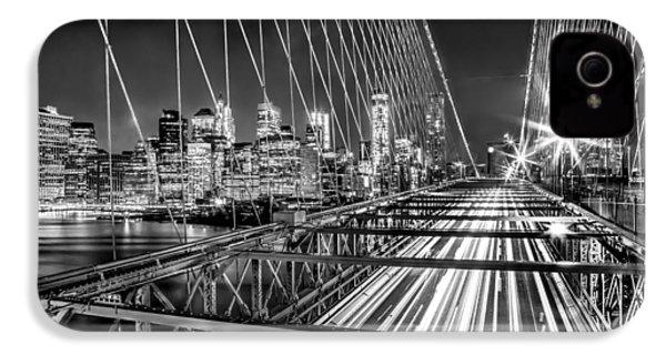Light Trails Of Manhattan IPhone 4 / 4s Case by Az Jackson