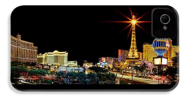 Lighting Up Vegas IPhone 4 Case by Az Jackson