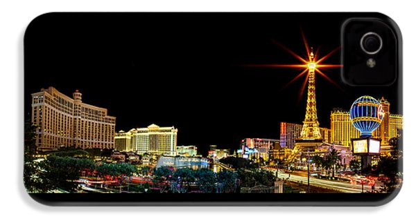 Lighting Up Vegas IPhone 4 Case by Az Jackson