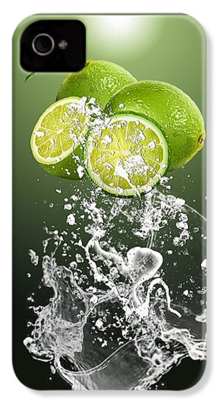 Lime Splash IPhone 4 Case by Marvin Blaine