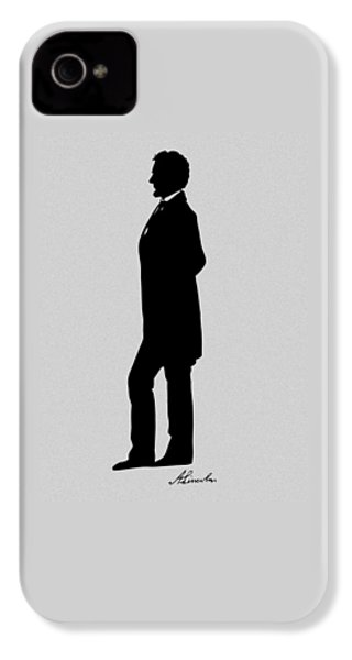 Lincoln Silhouette And Signature IPhone 4 Case