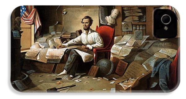 Lincoln Writing The Emancipation Proclamation IPhone 4 Case