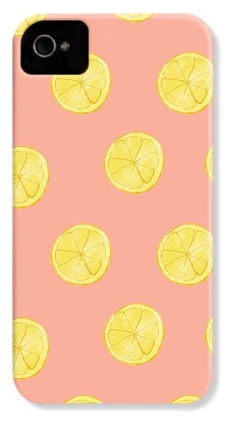 Little Lemons IPhone 4 / 4s Case by Allyson Johnson
