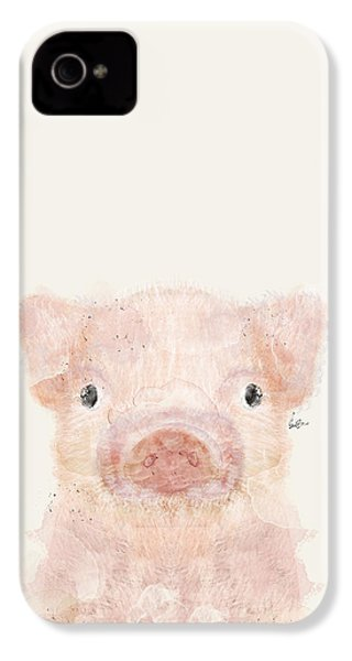 Little Pig IPhone 4 Case by Bri B