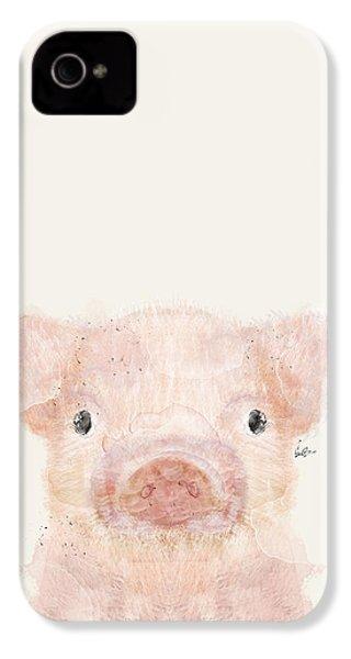 Little Pig IPhone 4 Case by Bri B