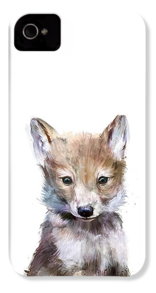 Little Wolf IPhone 4 Case by Amy Hamilton