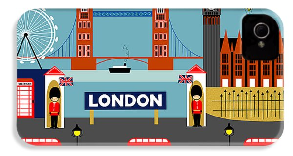 London England Horizontal Scene - Collage IPhone 4 Case by Karen Young