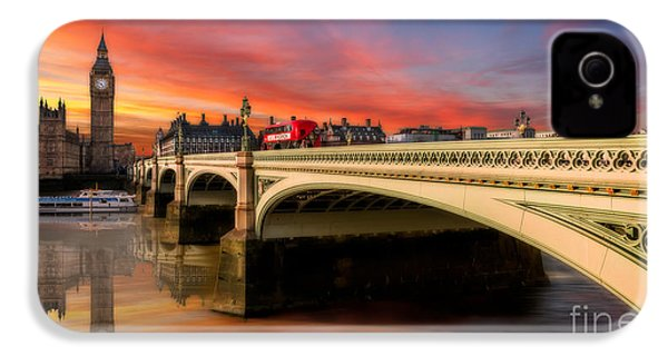 London Sunset IPhone 4 Case by Adrian Evans