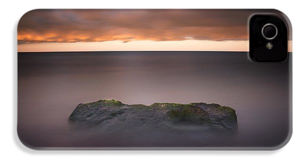 IPhone 4 Case featuring the photograph Lone Stone At Sunrise by Adam Romanowicz