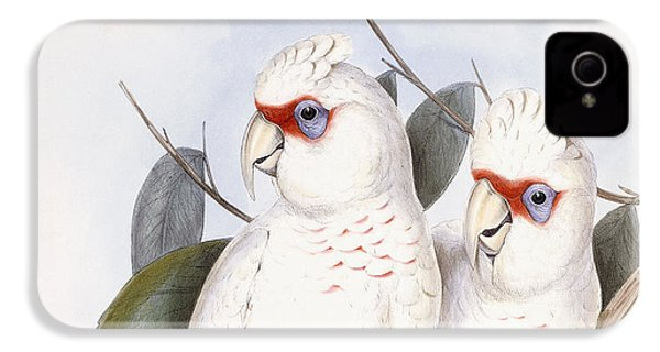 Long-billed Cockatoo IPhone 4 Case by John Gould