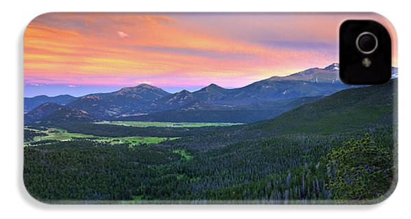 Longs Peak Sunset IPhone 4 Case by David Chandler