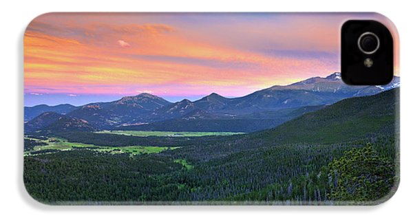 IPhone 4 Case featuring the photograph Longs Peak Sunset by David Chandler