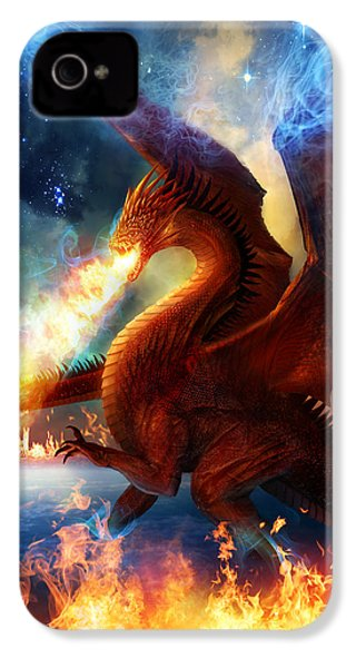 Lord Of The Celestial Dragons IPhone 4 / 4s Case by Philip Straub