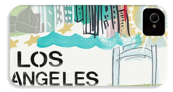 Los Angeles Cityscape- Art By Linda Woods IPhone 4 / 4s Case by Linda Woods