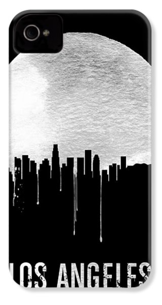 Los Angeles Skyline Black IPhone 4 Case by Naxart Studio