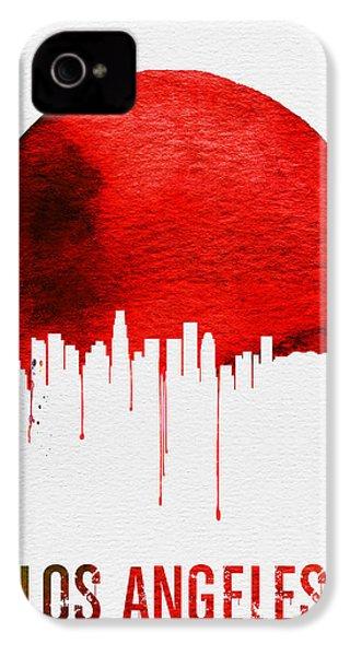 Los Angeles Skyline Red IPhone 4 Case by Naxart Studio