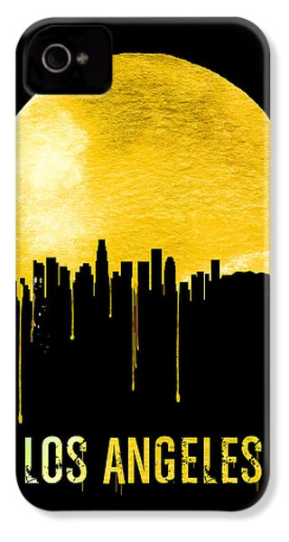 Los Angeles Skyline Yellow IPhone 4 / 4s Case by Naxart Studio