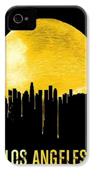 Los Angeles Skyline Yellow IPhone 4 Case by Naxart Studio