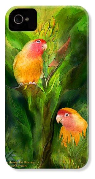 Love Among The Bananas IPhone 4 Case by Carol Cavalaris