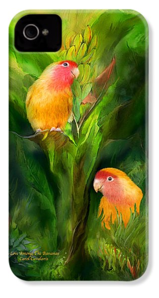 Love Among The Bananas IPhone 4 Case by Carol Cavalaris