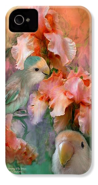 Love Among The Irises IPhone 4 / 4s Case by Carol Cavalaris