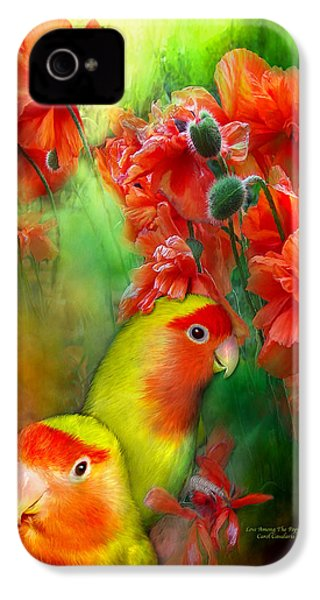 Love Among The Poppies IPhone 4 Case by Carol Cavalaris