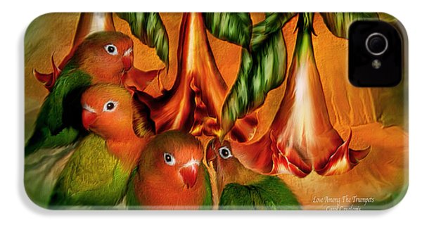 Love Among The Trumpets IPhone 4 Case by Carol Cavalaris