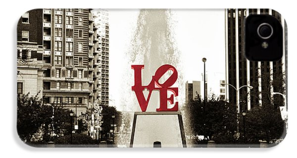 Love In Philadelphia IPhone 4 Case by Bill Cannon