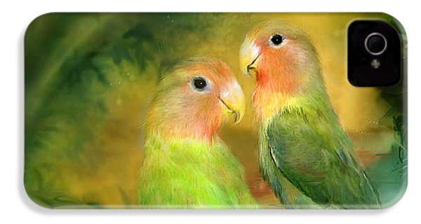 Love In The Golden Mist IPhone 4 Case by Carol Cavalaris