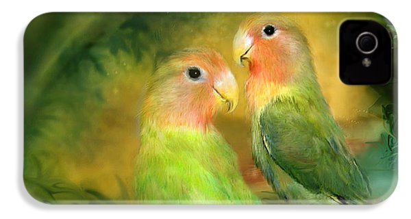 Love In The Golden Mist IPhone 4 Case by Carol Cavalaris
