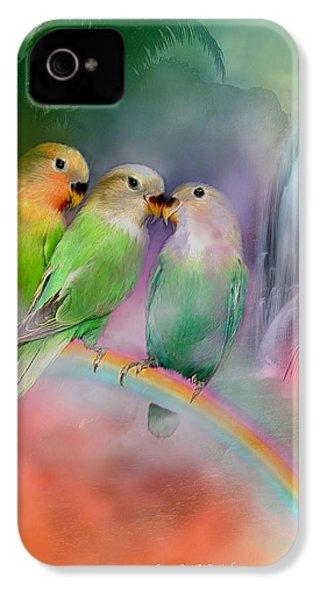 Love On A Rainbow IPhone 4 Case by Carol Cavalaris