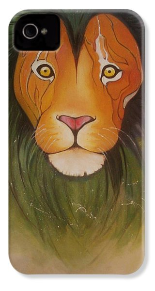 Lovelylion IPhone 4 Case by Anne Sue