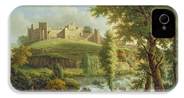 Ludlow Castle With Dinham Weir IPhone 4 Case by Samuel Scott