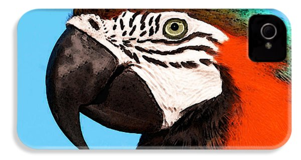Macaw Bird - Rain Forest Royalty IPhone 4 Case by Sharon Cummings