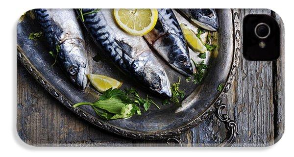 Mackerels On Silver Plate IPhone 4 / 4s Case by Jelena Jovanovic