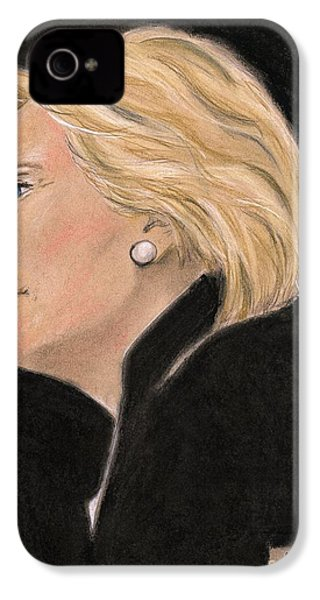 Madame President IPhone 4 Case by P J Lewis