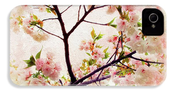 IPhone 4 Case featuring the photograph Asian Cherry Blossoms by Jessica Jenney
