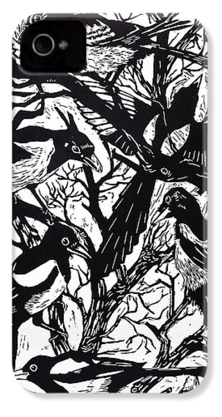 Magpies IPhone 4 Case by Nat Morley