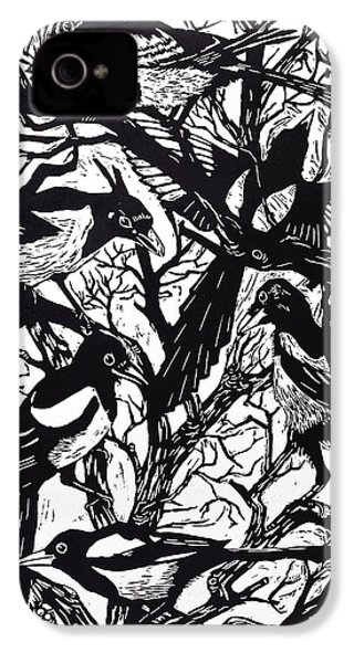 Magpies IPhone 4 / 4s Case by Nat Morley