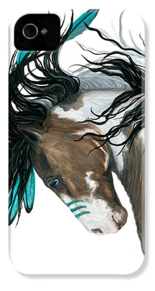 Majestic Turquoise Horse IPhone 4 / 4s Case by AmyLyn Bihrle