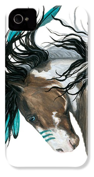 Majestic Turquoise Horse IPhone 4 Case by AmyLyn Bihrle