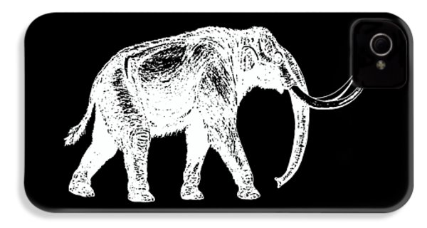 Mammoth White Ink Tee IPhone 4 / 4s Case by Edward Fielding