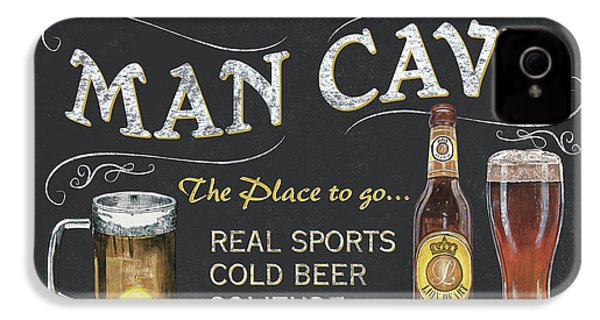Man Cave Chalkboard Sign IPhone 4 Case