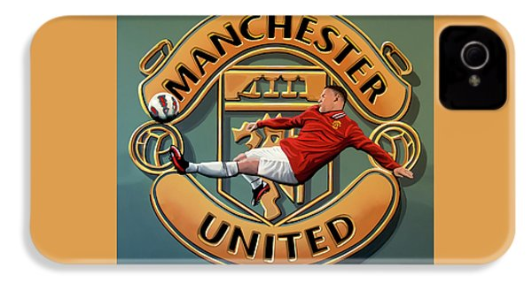 Manchester United Painting IPhone 4 Case by Paul Meijering