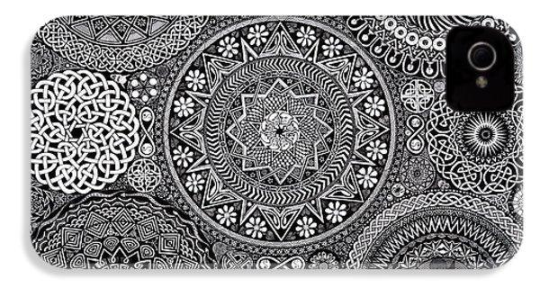 Mandala Bouquet IPhone 4 Case by Matthew Ridgway
