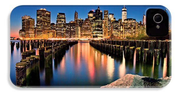 Manhattan Skyline At Dusk IPhone 4 Case